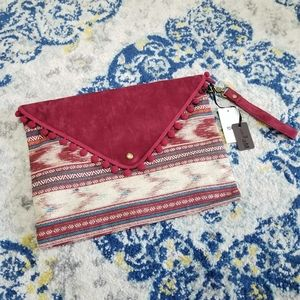 Hello 3am Southwest Pattern Convertible Clutch Red